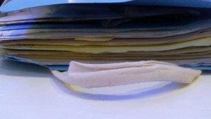 File in bag